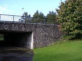 'Work', pedestrian underpass, concrete relief. 1970